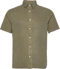 comfort tencel ss reg shirt overhemd met korte mouwen groen j. lindeberg