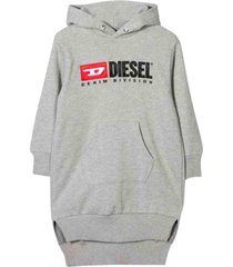 diesel cotton dress with hood