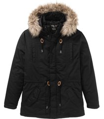 parka con ecopelliccia (nero) - bpc bonprix collection