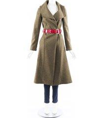 oscar de la renta belted swing coat