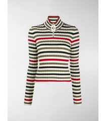 jw anderson striped high-neck pullover
