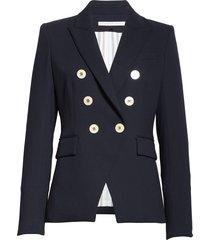 women's veronica beard miller dickey jacket, size 0 - blue