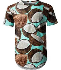 camiseta longline over fame cocos verde