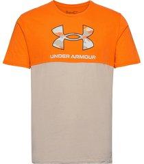 ua camo big logo ss t-shirts short-sleeved orange under armour
