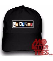 custom printed la flame dad hat travis scott