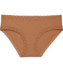 natori intimates bliss girl brief panty, women's, 100% cotton, size xl