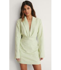 na-kd classic kjol med struktur - green