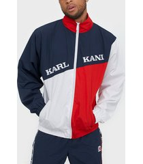 karl kani kk retro block trackjacket jackor navy