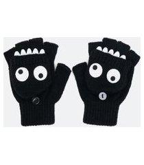 luva infantil fingerless monstrinho - tam p ao g | accessories | preto | m