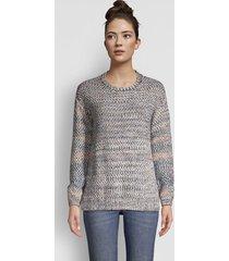artisanal marled yarn crewneck sweater, x large