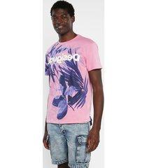 floral t-shirt 100% cotton - red - xxl