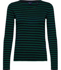 1x1 rib ls t-shirt t-shirts & tops long-sleeved groen gant
