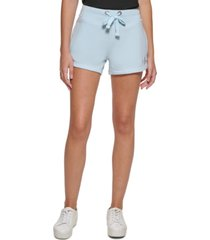 calvin klein jeans drawstring french terry shorts