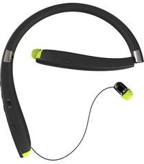 audífonos bluetooth, sx-990 beats estereo hd bluetooth deportivos retráctil y plegable auriculares inalámbricos con cuello en los audifonos manos libres para sony iphone samsung (negro)