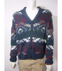 adam levine mens men's 'epic' cardigan sweater aztec nwt sz. l size large new 1
