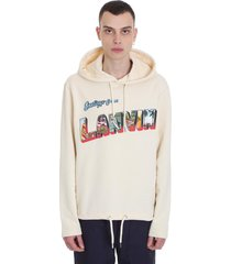 sweatshirt in beige cotton