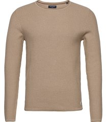 jprblucarlos knit crew neck noos stickad tröja m. rund krage beige jack & j s