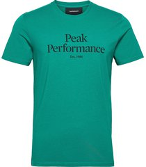 m original tee t-shirts short-sleeved grön peak performance