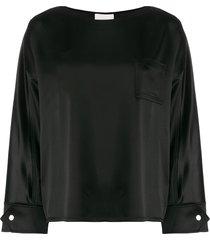 3.1 phillip lim boat-neck loose-fit blouse - black