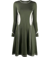 wood wood long sleeve short dress - green