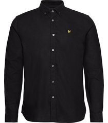 cotton linen shirt overhemd casual zwart lyle & scott