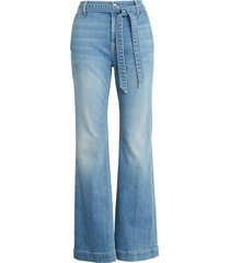 women's jen7 by 7 for all mankind belted flare leg jeans, size 18 (similar to 14w) - blue