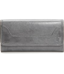 women's frye 'melissa' continental wallet - grey