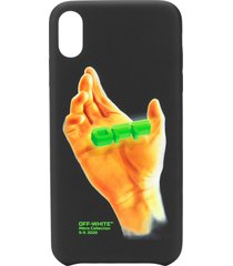 off-white hand print iphone xs max case - black