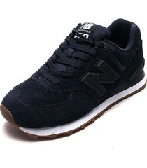 tenis lifestyle azul navy-blanco new balance classics traditionnels 574