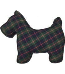 "tartan plaid 14"" x 18"" scottie dog decorative pillow, created for macy's bedding"