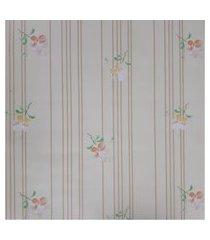 kit 4 rolos de papel de parede fwb floral amarelo e laranja