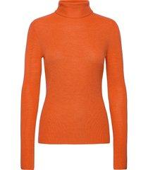 light merino knit turtleneck coltrui oranje ganni