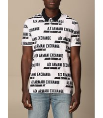 armani exchange polo shirt armani exchange cotton polo shirt with logo