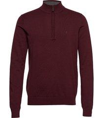 12gg 1/4 zip sweater knitwear turtlenecks röd izod