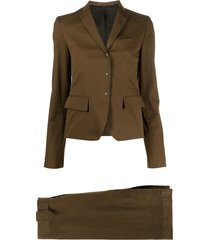 gucci pre-owned 1990s two-piece skirt suit - brown