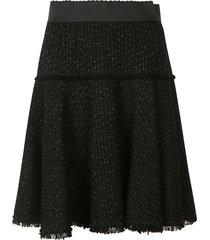 dolce & gabbana fringed edge detail skirt