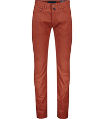 pierre cardin 5-pocket broek donkerrood