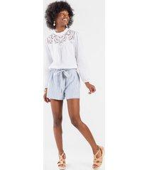 scarlett paperbag shorts - light blue