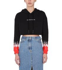 vision of super cropped sweatshirt