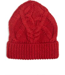 women's isabel marant ryamy cable stitch wool beanie - red