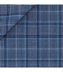 giacca da uomo su misura, lanificio zignone, azzurra principe di galles, quattro stagioni | lanieri