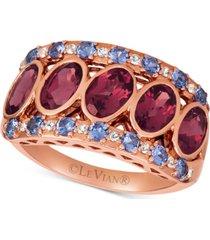 le vian multi-gemstone statement ring (3-1/4 ct. t.w.) in 14k rose gold