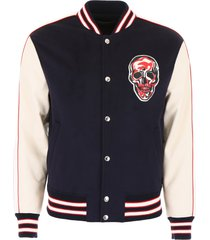 alexander mcqueen bomber jacket with skull patch