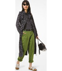 mk floral cady trench coat floral cady trench coat - orchidea (viola) - michael kors