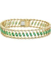 diamond & gemstone dot dash bracelet