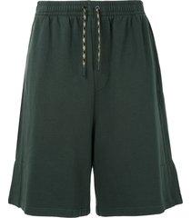qasimi casual track shorts - green