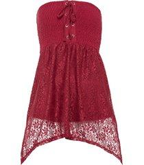 top a fascia con stringatura (rosso) - bodyflirt boutique