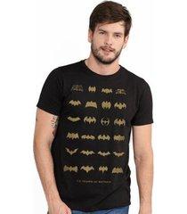 camiseta bandup! masculina batman 75 anos logos collection