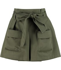 red valentino belted short-skirt