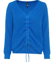 maglione oversize da arricciare (blu) - rainbow